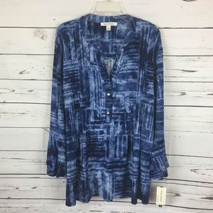 NWT Bell Ruffle Sleeves Blouse, Size L